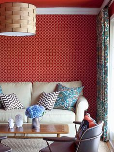 When mixing patterns, think scale: use one small, one medium and one large.