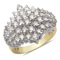 Ebay NissoniJewelry presents - Ladies 3CT Diamond Cluster Ring in 14k Yellow Gold    Model Number:FR4511R-Y424    http://www.ebay.com/itm/Ladies-3CT-Diamond-Cluster-Ring-in-14k-Yellow-Gold/221630535732