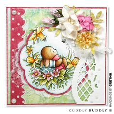 Pachela Studios Digi Stamp - Toby Tumble Happy Easter < Craft Shop | Cuddly Buddly Crafts