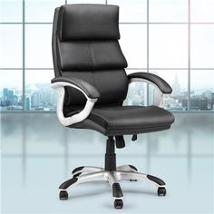 Padded Leather Office Chair