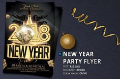 New Year Party Flyer by oloreon on @creativemarket