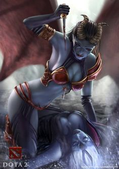 Queen of Pain VS Vengeful Spirit Dota 2 (600×849)
