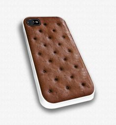 Ice cream sandwhich i phone case. I love how cute this is i think i need this, all thought if some one tried to eat it on me....... i think i would cry especially if there were bit marks.......