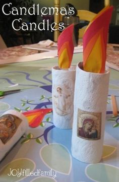 Candlemas ~ The Presentation of our Lord ~ A list of Crafts - Catholic Inspired Catholic Crafts, Catholic Kids, Church Crafts, Catholic School, Catholic Traditions, Catholic Saints, Jesus In The Temple, Catholic Catechism, Bible Crafts