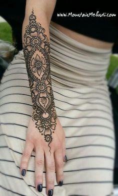 Arm henna by mountain mendhi