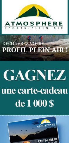 Gagnez une carte-cadeau Atmosphère de 1 000 $. Fin le 15 octobre.  http://rienquedugratuit.ca/concours/carte-cadeau-atmosphere-1000/