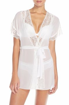 IN BLOOM BY JONQUIL JENNIFER CHIFFON ROBE WHITE  49 - PICK UP OR SHIPS FREE  WORLDWIDE 105f28ee2