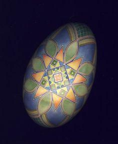 pysanky / batik goose egg / Ukrainian egg