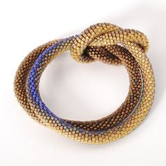 Bracelet, Weaver's knot with 24k gold beads | Claire Kahn