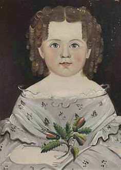 WILLIAM MATTHEW PRIOR (1806-1873), DATED 1841  PORTRAIT OF A YOUNG GIRL IN A GRAY DRESS