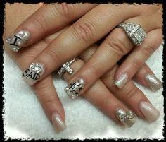 My engagement nails.. I said yes!