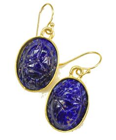 Vintage Scarab Earrings