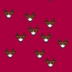 fox fabric by shy_bunny on Spoonflower - custom fabric