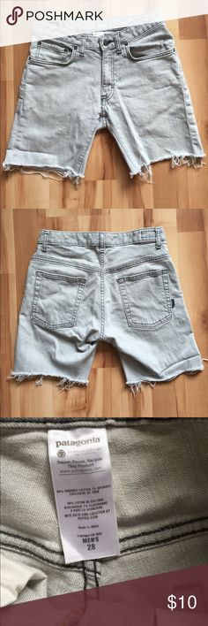Patagonia cut-off jean shorts Organic cotton jean shorts. Light gray Patagonia Shorts Jean Shorts