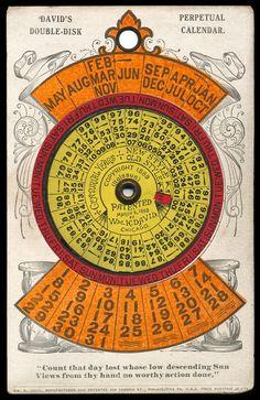 William K. David / 1889 Perpetual Calendar | Sheaff : ephemera