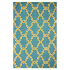 Anchor your living room seating group or define space in the den with this lovely hand-hooked wool rug, showcasing a quatrefoil trellis motif in blue. ...
