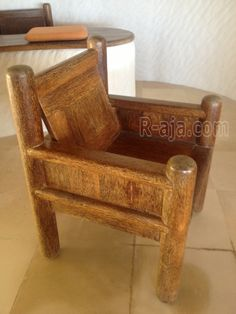 Furniture chair of coconut