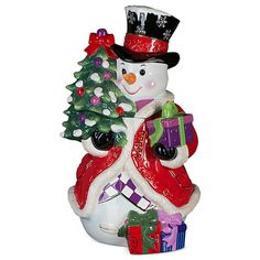 Stately Snowman Cookie Jar ~ UPC: 645001459688