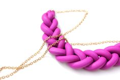 braided necklace #Polymer #Clay #Turorials