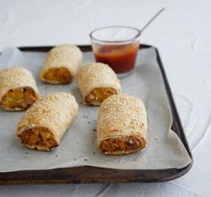 A delicious vegetarian alternative to sausage rolls.