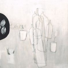still life.acrylics and graphite on woodpanel.16x16.2014