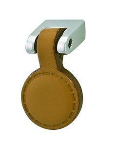 Knob in Polished Chrome and Leather Natural Hafele America http://www.amazon.com/dp/B004FFYCZ0/ref=cm_sw_r_pi_dp_Lxoxvb008EZW8