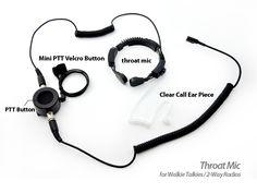 Throat Mic Set for Walkie Talkies / 2-Way Radios