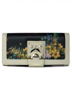 Floral Painting Wallet in Ivory - New Arrivals - Retro, Indie and Unique Fashion