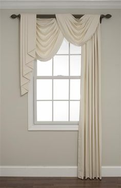 Awesome Window Treatment Ideas and Curtain Designs Photos - View our collection of developer window therapies as well as custom-made window treatments for your home. From ranch shutters to simple DIY draperies, locate inspiration for upgrading your style. Elegant Home Decor, Home Curtains, Swag Curtains, Curtains Living Room, Living Room Windows, Window Treatments Living Room, Curtain Styles, Curtain Decor, Window Treatments