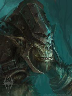 Armored Troll Skyrim by JoshBurns.deviantart.com on @DeviantArt