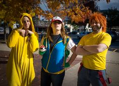 Pikachu, Female Ash, and Male Misty from Pokemon