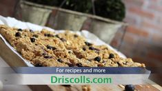 Driscoll's No-Bake Blueberry Oat Bars Video | www.driscolls.com