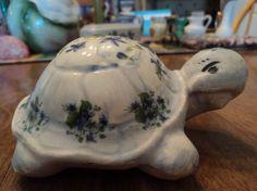 Vintage ceramic turtle by WhiskeysWhims on Etsy