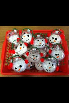 Snowman Christmas Bulbs