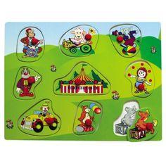 Drevené hračky - Vkladačka - Cirkus