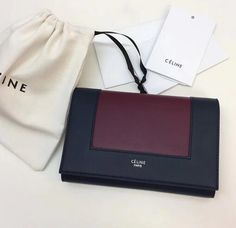 Celine Fall Winter 2017 Cheap Celine Frame evening clutch on chain in smooth lambskin