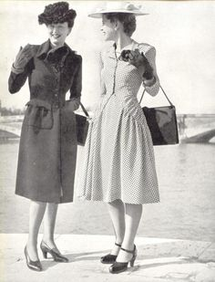 I just love the old vintage look! The outfits & hats were so lady like!