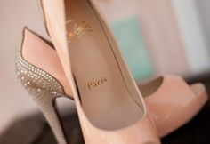 Love these pink and romantic bridal shoes