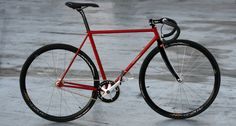The New IRIDE Track Bike, fixed gear, fixie or pista. Unique special handmade exotic authentic bicycle.