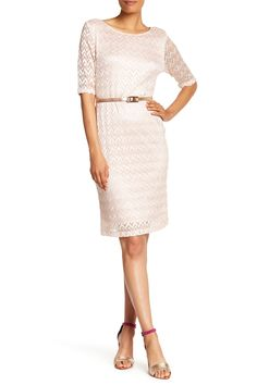 aba6938bde7 Chevron Lace Dress by Connected Apparel on  nordstrom rack Lace Skirt