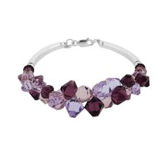 "Sterling Silver Genuine Swarovski Crystalized Elements Multi-Purple Frontal Bracelet, 7.5"" Amazon Curated Collection,http://www.amazon.com/dp/B009VAYLPK/ref=cm_sw_r_pi_dp_asiFrb3F053A4EBA"