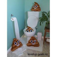 Emoji Pillow / Emoji Cushion - Poop  from LevelUp.Geek.NZ  - Canterbury - List Sell Trade tooooooo many piles of poo