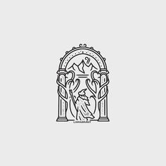 Follow us  @logoinspirations Lord of The Rings Badge by @liamashurst -  http://ift.tt/2geIf0d -  LEARN LOGO DESIGN  @learnlogodesign @learnlogodesign