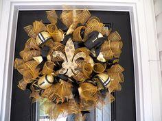 New Orleans Saints Wreath, Saints Door Hanger, Saints Wreath, New Orleans Saints Football by OccasionsBoutique on Etsy