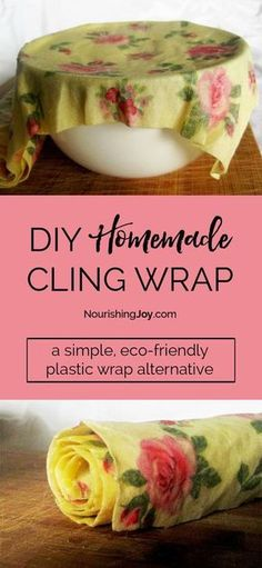 Sewing Fabric Storage Make your own cling wrap and help your kitchen go plastic free! - DIY homemade cling wrap is an eco-friendly, creative solution to using plastic wrap in your kitchen. Even better, it takes mere minutes to make! Diy Hacks, Cleaning Hacks, Cleaning Supplies, No Waste, Reduce Waste, Do It Yourself Inspiration, Style Inspiration, Friendly Plastic, Natural Cleaning Products