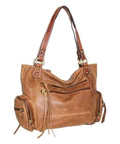 Another great find on #zulily! Nino Bossi Nut Money Bag Leather Tote #zulilyfinds