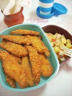 Tiras de pollo con sesamo ~ Mi querida cocinera
