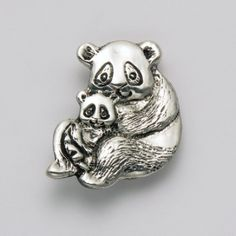 Mother with Baby Panda Pin at theBIGzoo.com, an animal-themed store established in August 2000.