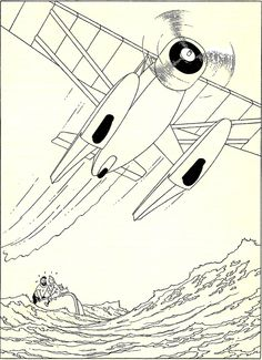 Hergé - 1947 Lead pencil, indian ink and gouache on drawing paper - 241 x 332mm Tintin - Tenten