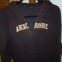 Cute sweatshirt Cute sweatshirt. It isn't long but not quite cropped either. Abercrombie & Fitch Tops Sweatshirts & Hoodies